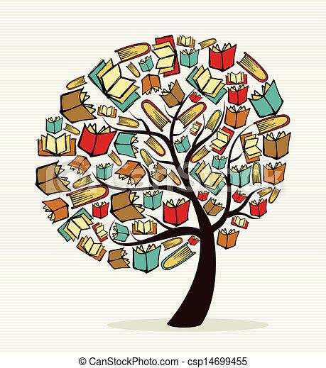 Concept books tree - csp14699455