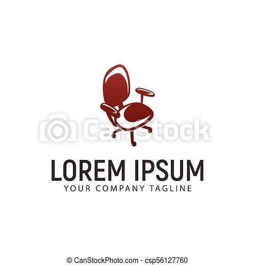 concept, bureau, conception, gabarit, logo, chaise - csp56127760