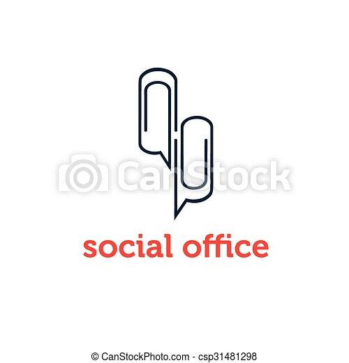 concept, bureau, vecteur, conception, gabarit, social - csp31481298