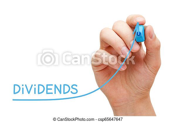 concept, business, dividendes, graphique, augmenter, investissement - csp65647647