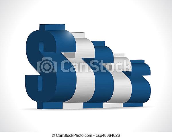 concept, business, graphique, dollar, illustration, conception - csp48664626