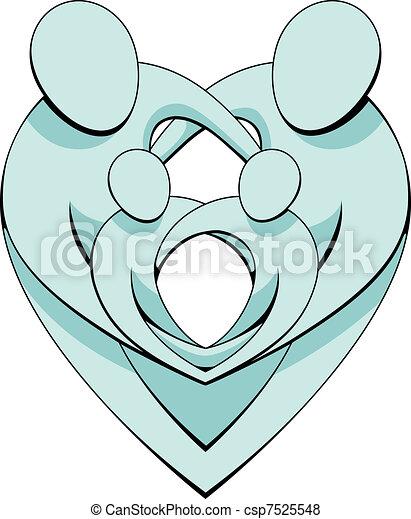 concept, coeur, graphique, famille - csp7525548