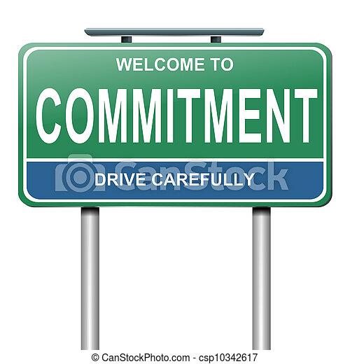 Concepto de compromiso. - csp10342617