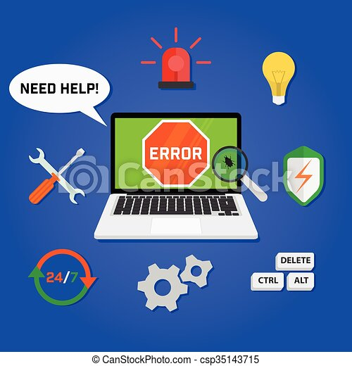 Concept computer technical support service