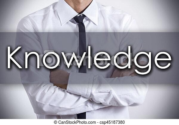 concept, connaissance, business, texte, -, jeune, homme affaires - csp45187380