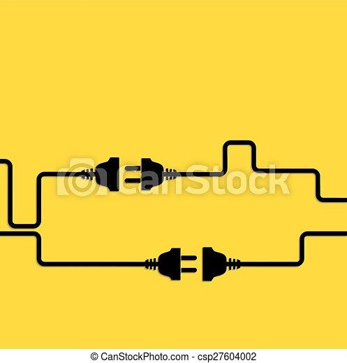 Concept connection, disconnection, electricity. - csp27604002