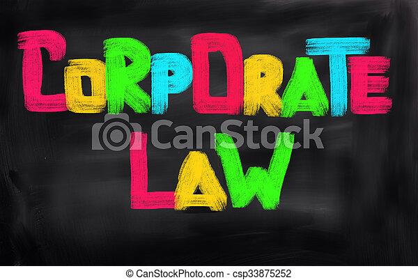 concept, constitué, droit & loi - csp33875252