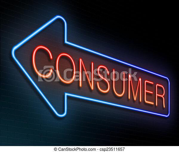 Consumidor concepto. - csp23511657