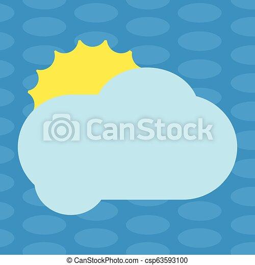 concept, couleur, pelucheux, promotionnel, vide, nuage, briller, annonces, espace, soleil, isolé, derrière, gabarit, vide, business, affiche, matériel, affiches, copie, bons, dissimulation, vecteur - csp63593100