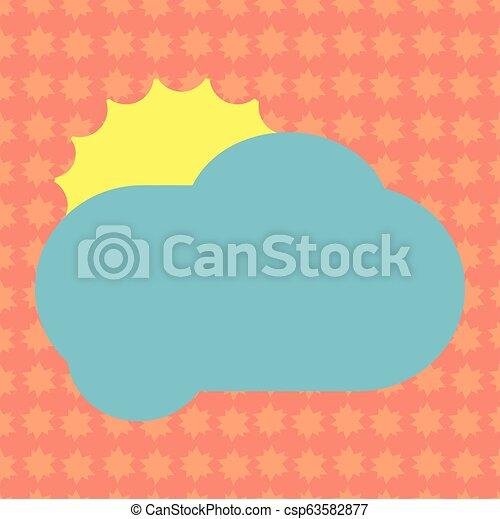 concept, couleur, pelucheux, promotionnel, vide, nuage, briller, annonces, espace, soleil, isolé, derrière, gabarit, vide, business, affiche, matériel, affiches, copie, bons, dissimulation, vecteur - csp63582877
