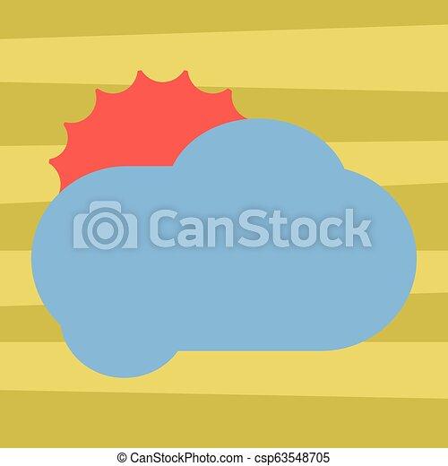 concept, couleur, texte, pelucheux, promotionnel, conception, vide, nuage, briller, toile, annonces, soleil, derrière, gabarit, railler, business, affiche, matériel, copie, dissimulation, haut, vecteur, vide, bannières - csp63548705