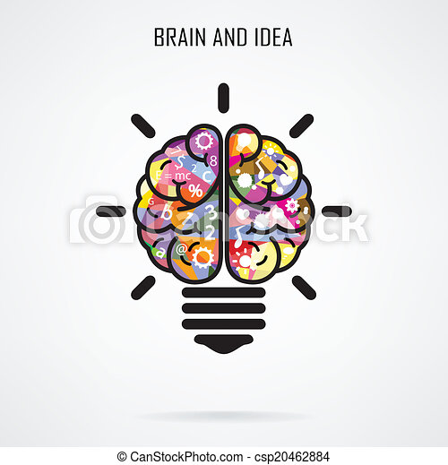 concept, creatief, hersenen, bol, licht, idee, concept, opleiding - csp20462884