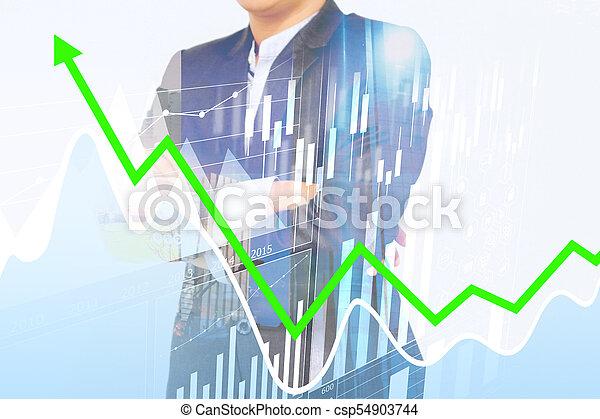 concept., croissance, business - csp54903744