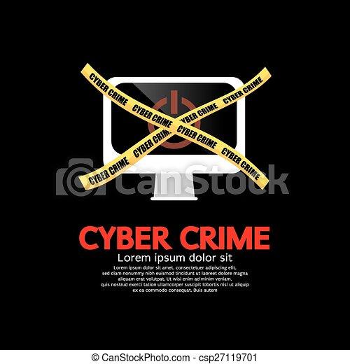 El concepto del crimen cibernético. - csp27119701