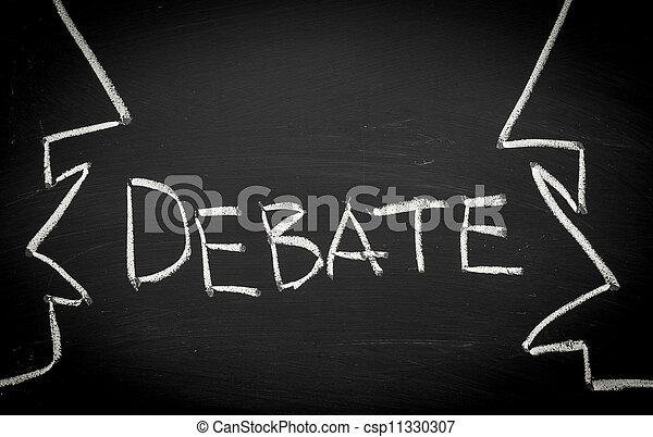 concept, débat - csp11330307