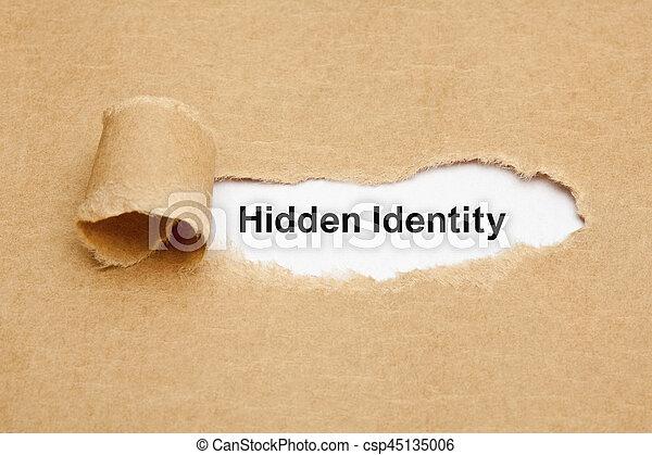 concept, déchiré, caché, papier, identité - csp45135006