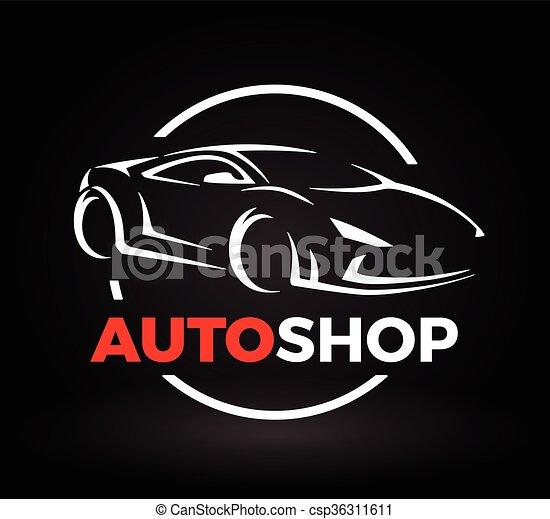 concept design of a super sports vehicle car auto shop logo original auto motor concept design. Black Bedroom Furniture Sets. Home Design Ideas