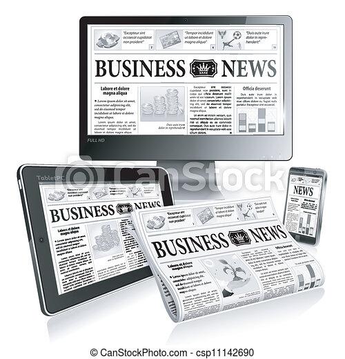Concept - Digital News - csp11142690
