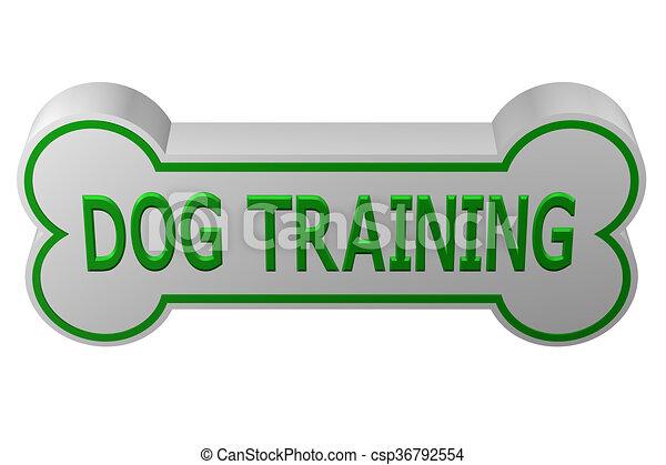 Concept: dog training  3D rendering