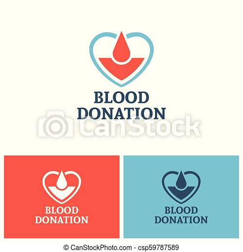 concept, donation, vecteur, conception, sanguine, logo - csp59787589