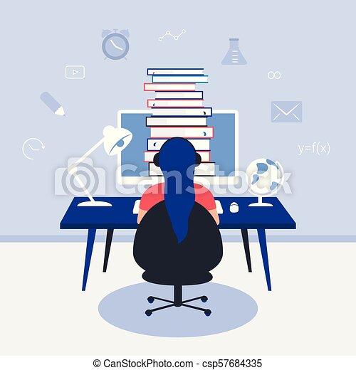 El concepto de diseño de educación online. - csp57684335