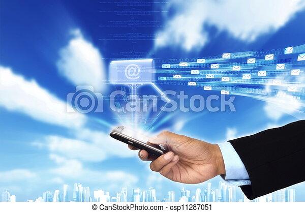 concept, email - csp11287051