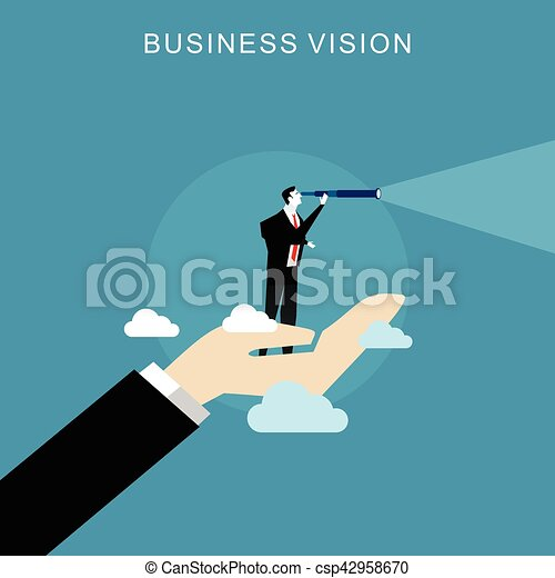 El concepto de visión de negocios. - csp42958670