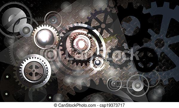 El concepto de engranajes. - csp19373717
