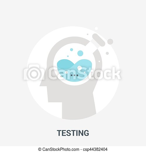 concept, essai, icône - csp44382404