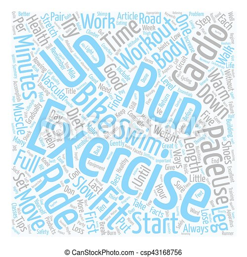 concept, essentiel, texte, séance entraînement, fitness, wordcloud, santé, fond, vasculaire, cardio - csp43168756