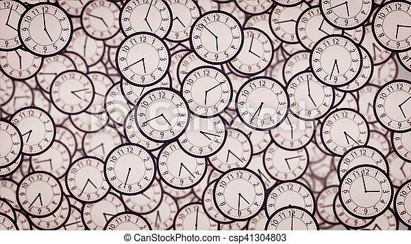 Caras de reloj. Un concepto de negocios. - csp41304803