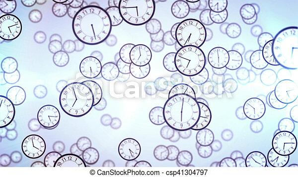 Caras de reloj. Un concepto de negocios. - csp41304797