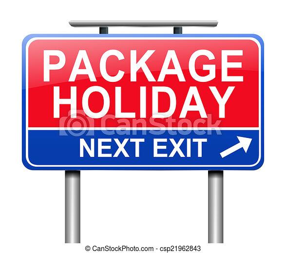 Un paquete de concepto de vacaciones. - csp21962843