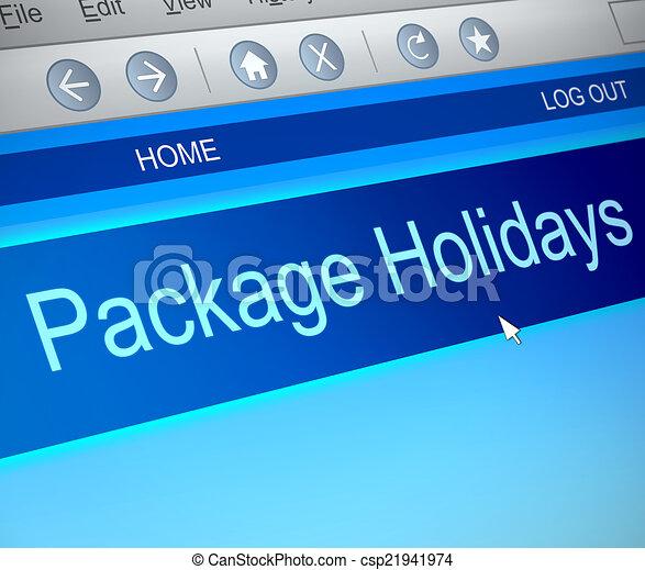 Un paquete de concepto de vacaciones. - csp21941974