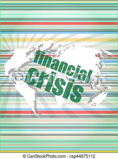 concept, financier, business, écran, -, toucher, crise - csp44975112