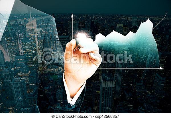 concept financier, croissance - csp42568357