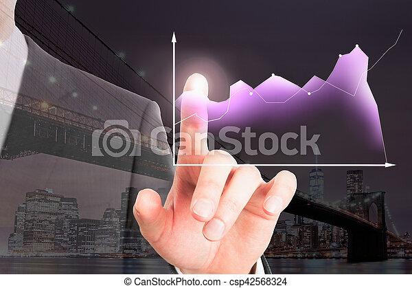 concept financier, croissance - csp42568324