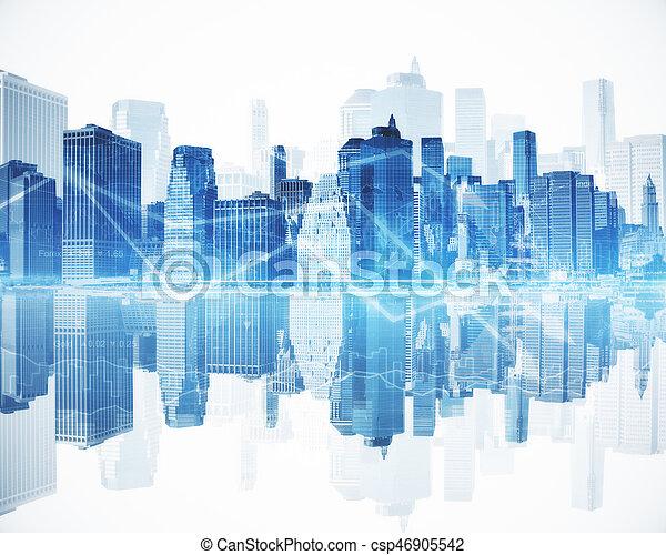 concept financier, croissance - csp46905542