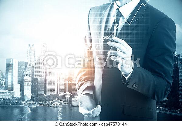 concept financier, croissance - csp47570144