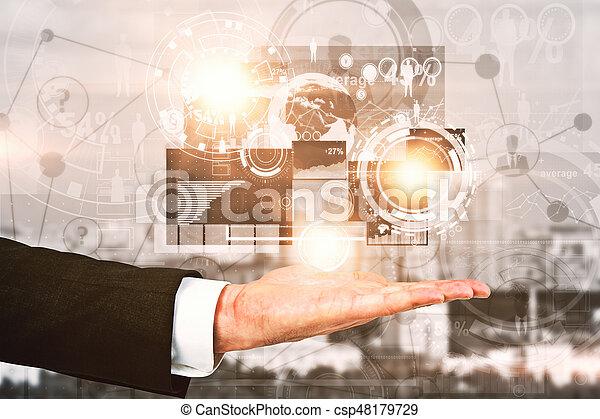 concept financier, croissance - csp48179729
