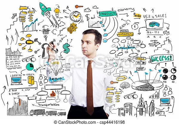 concept financier, croissance - csp44416198