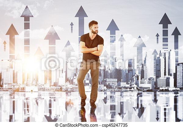 concept financier, croissance - csp45247735