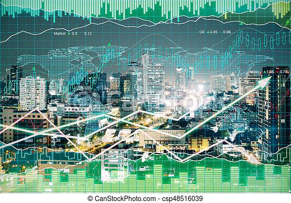 concept financier, croissance - csp48516039