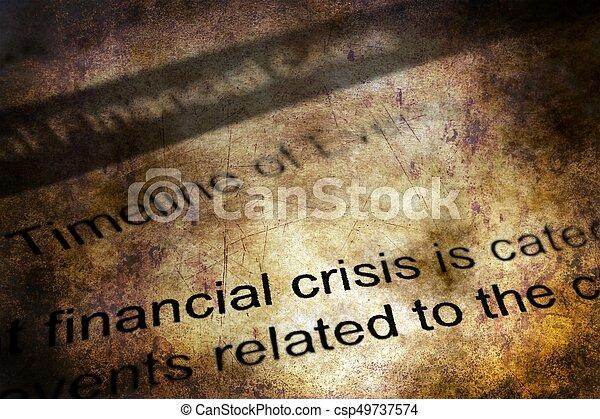 concept financier, grunge, crise - csp49737574
