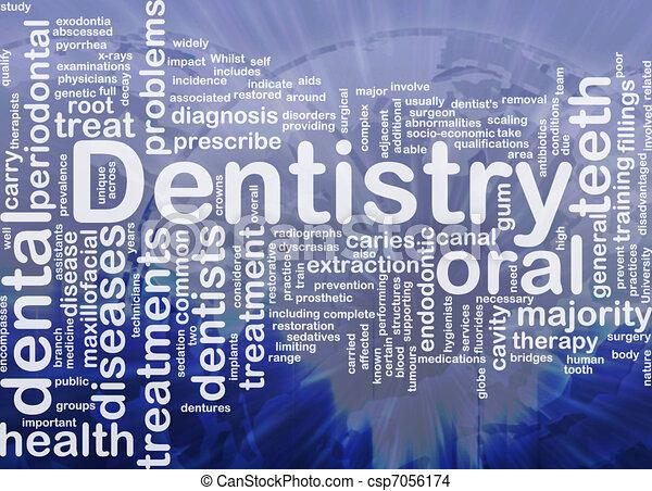 concept, fond, art dentaire - csp7056174