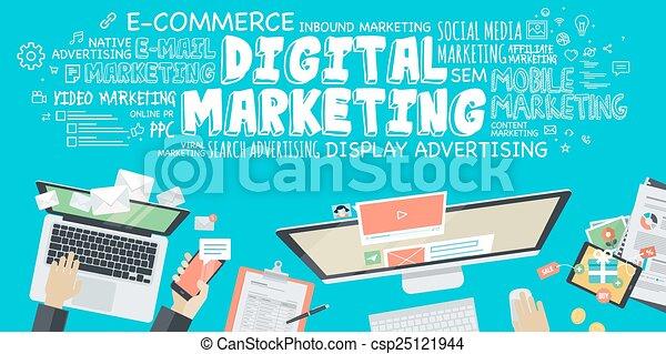 Concept for digital marketing - csp25121944