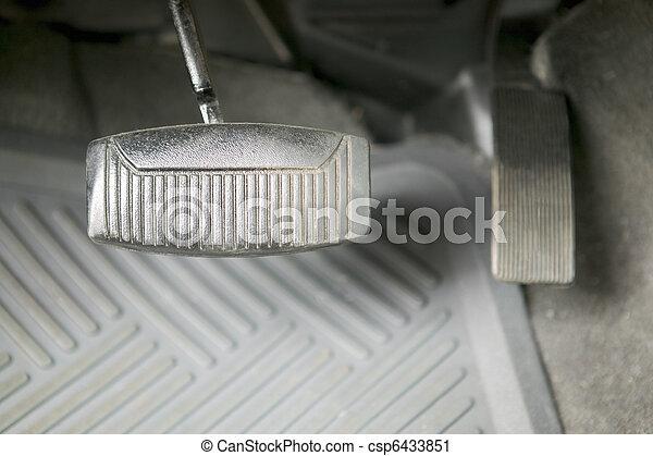 concept, fotografie, gas, auto, rempedaal - csp6433851