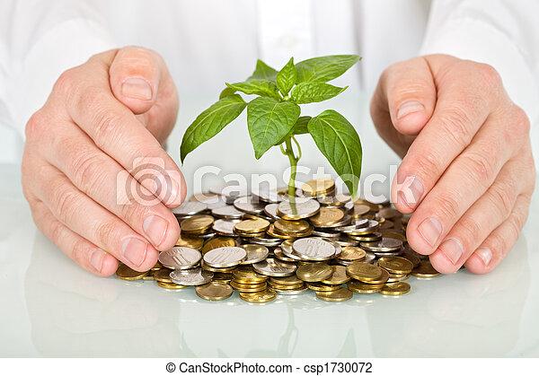 concept, geld, goed, vervaardiging, beschermen, investering - csp1730072