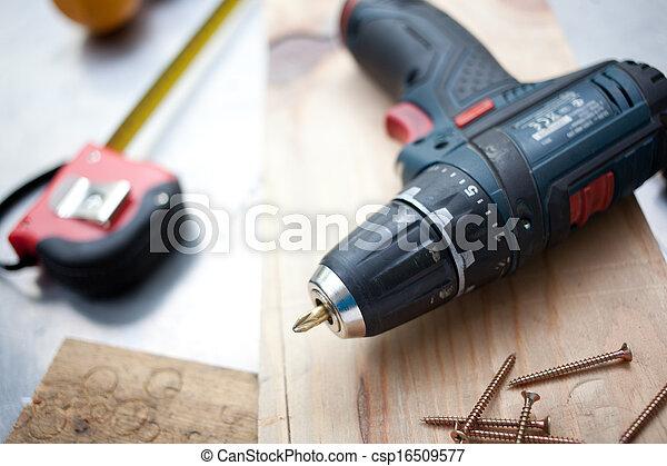 concept, gereedschap, doe het zelf - csp16509577