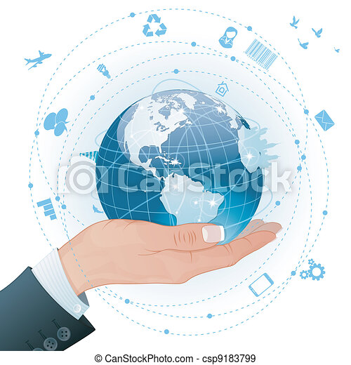 Concept - Global Business - csp9183799